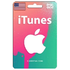 iTunes Gift Card $ 25 USD (USA)  Official