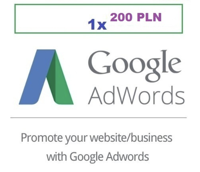 Купон для Google AdWords на 200 zl. ПОЛЬША